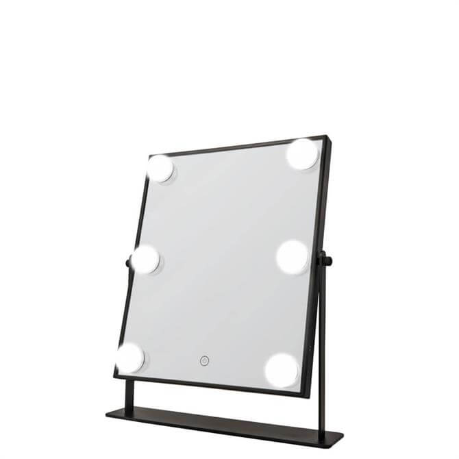 Danielle Creations Black L.E.D Hollywood Mirror