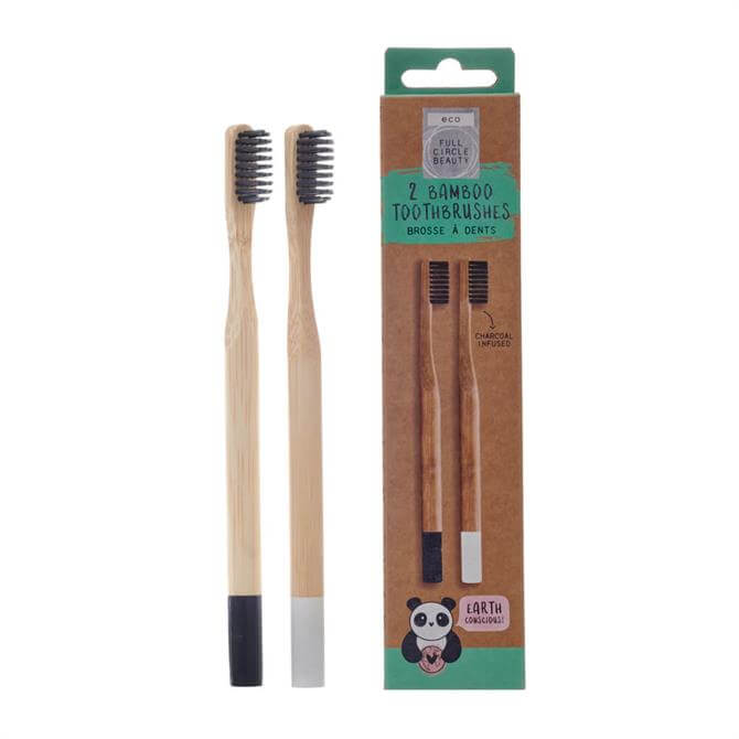 Eco Full Circle Beauty Set of 2 Bamboo Toothbrushes