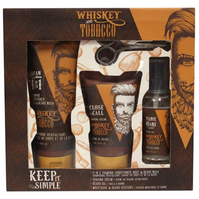 Danielle Keep It Simple Whiskey & Tobacco Men's Grooming Gift Set