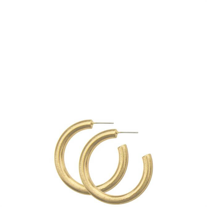 Dansk Smykkekunst Tara Chunky Small Hoop Earrings