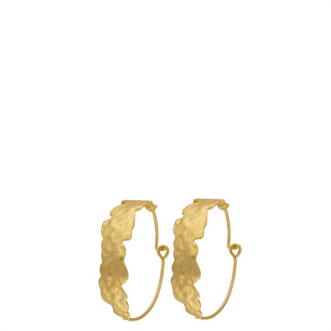 Dansk Amelia Golden Hoop Earrings