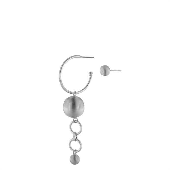 Dansk Tabitha Double Rhodium Plated Earrings