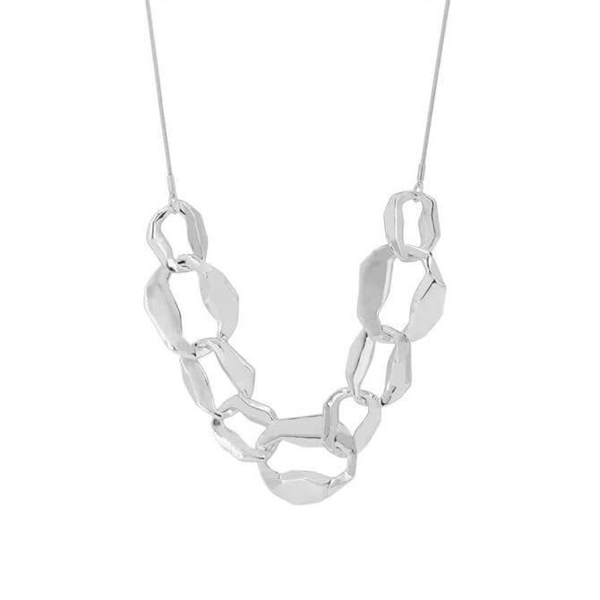 Dansk Drift Rhodium Plated Necklace