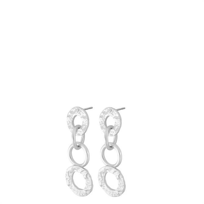 Dansk Amber Open Silver Plated Earrings