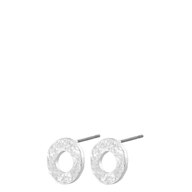 Dansk Amber Open Silver Plated Post Earrings