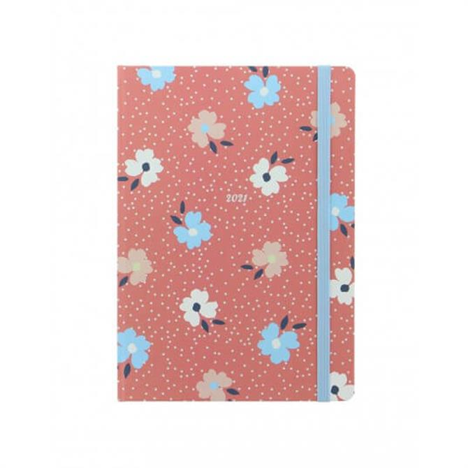 Letts 2021 Floral A5 Week to View Diary