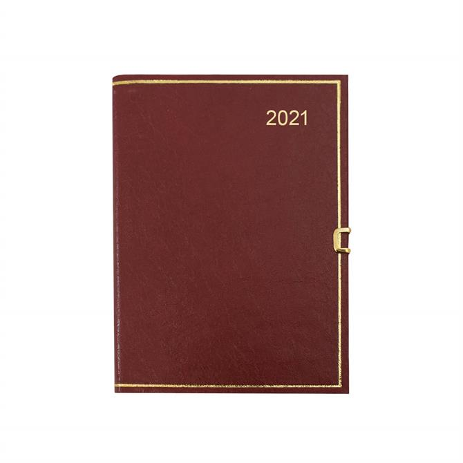 Dataday 2021 One Week-to-View Classic Cosea Leather Pocket Diary- Assorted Colours