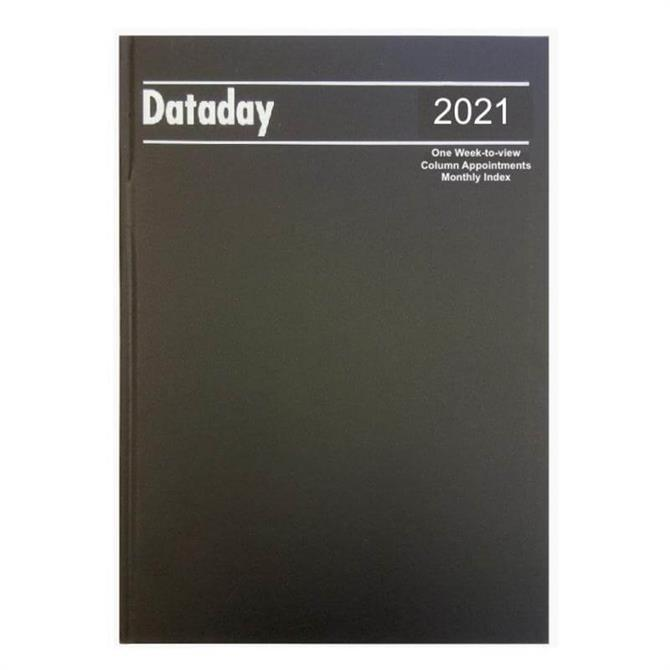 Dataday 2021 A4 One Week-to-View Column Appointments With Monthly Index- Assorted Colours