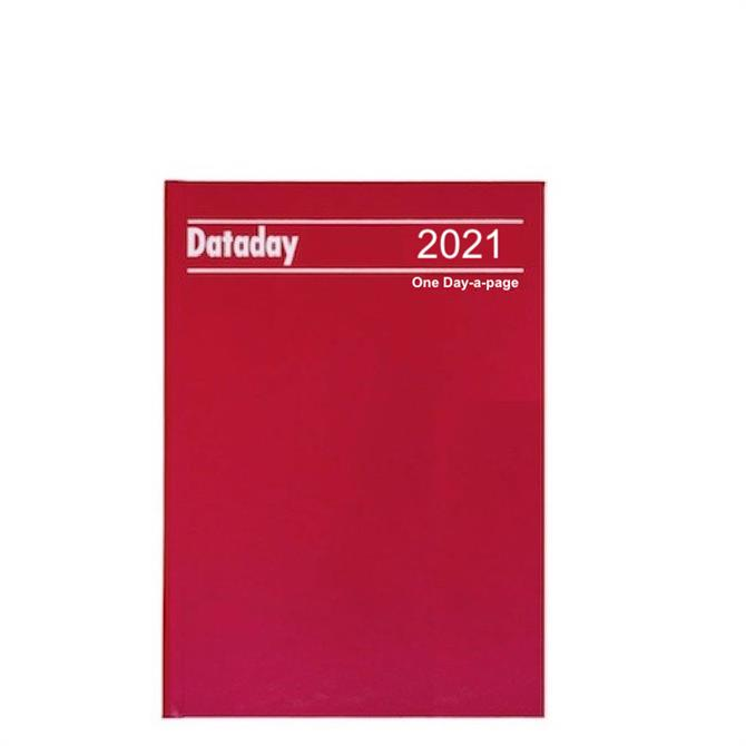 Dataday 2021 A5 Day-a-Page Desk Diary- Assorted Colours