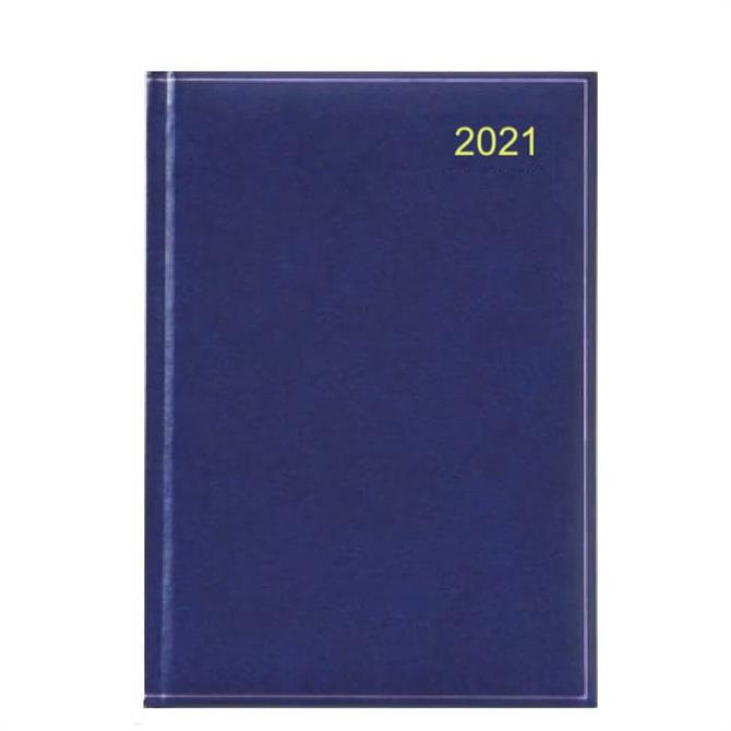 Dataday 2021 One Day-a-Page A5 Appointments Desk Diary- Assorted Colours