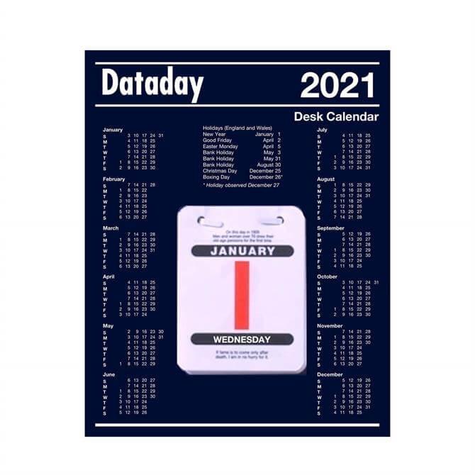 Dataday 2021 Daily Desk Calendar