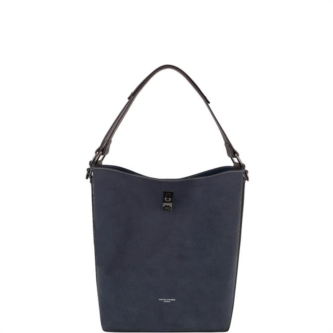David Jones Faux Nubuck Bucket Bag with Pouch CM5325
