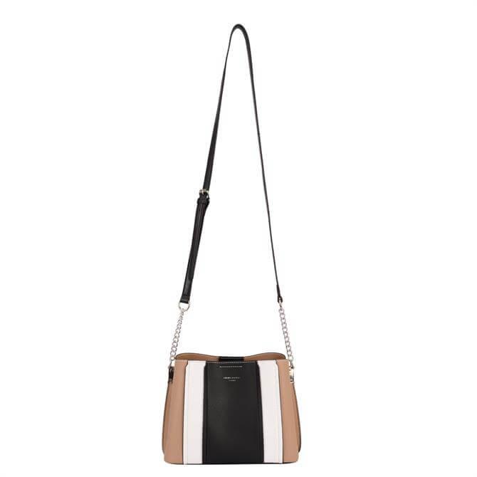 David Jones 6258-1 Multi Stripe Shoulder Bag