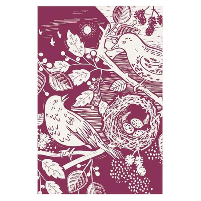 English Tableware Artisan Tea Towel Blackbird