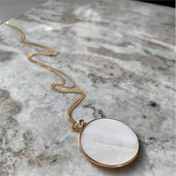 Decadorn Mother of Pearl Large Circle Necklace