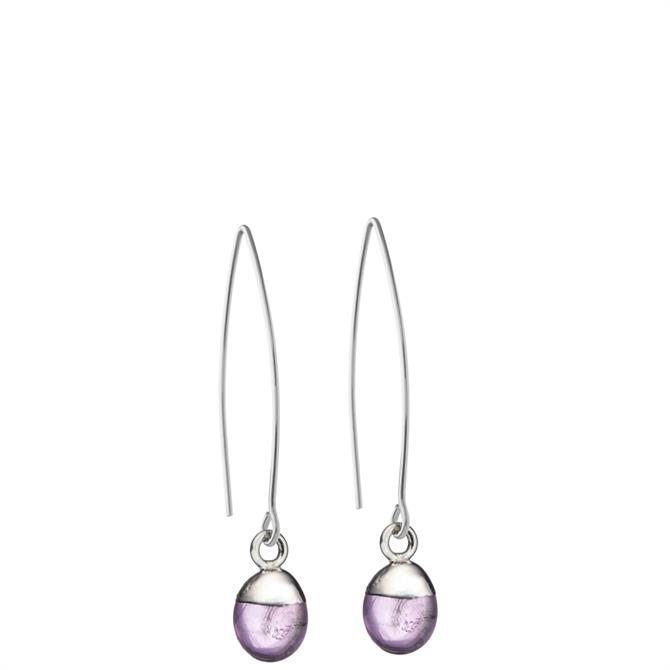 Decadorn Tiny Tumbled Gemstone Sterling Silver Dropper Earrings