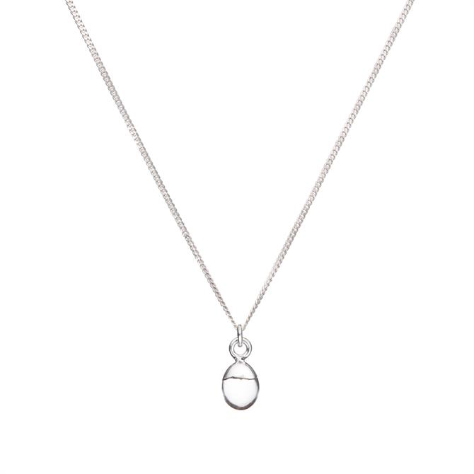 Decadorn Tiny Tumbled Gemstone Sterling Silver Necklace