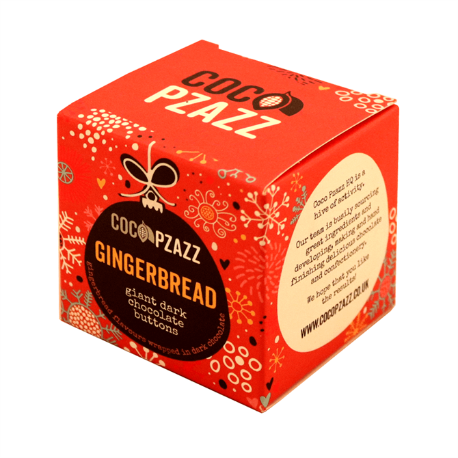 Coco Pzazz Gingerbread Giant Dark Chocolate Buttons