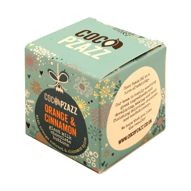Coco Pzazz Orange & Cinnamon Giant Milk Chocolate Buttons