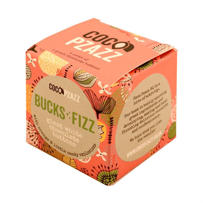 Coco Pzazz Bucks Fizz Giant White Chocolate Buttons