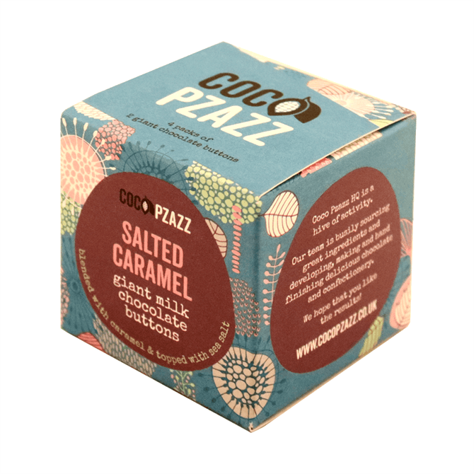 Coco Pzazz Salted Caramel Giant Milk Chocolate Buttons