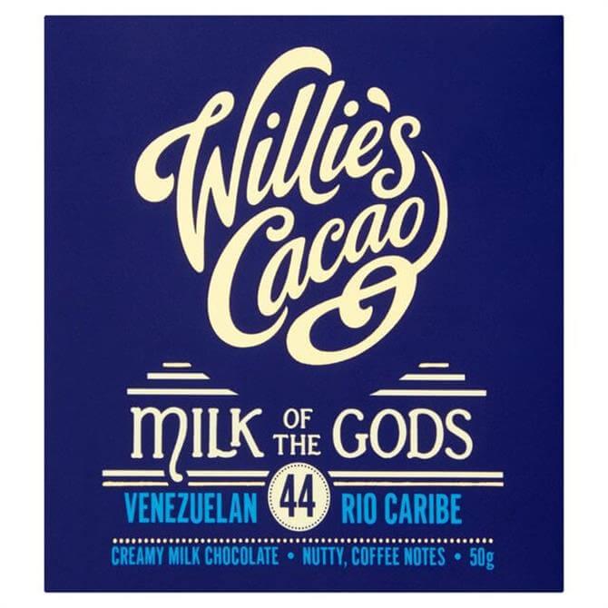 WILLIES CACAO MILK OF THE GODS RIO CARIBE 50G