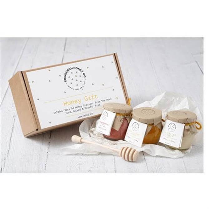 Edinburugh Honey Co Woodland Honey Set Of 3 Honey Jars 300ml