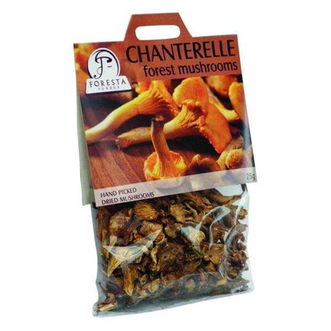 Foresta Dried Chanterelle Forest Mushrooms 25G