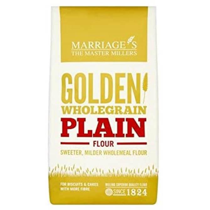 Marriages Golden Wholegrain Plain Flour Vegan 1kg