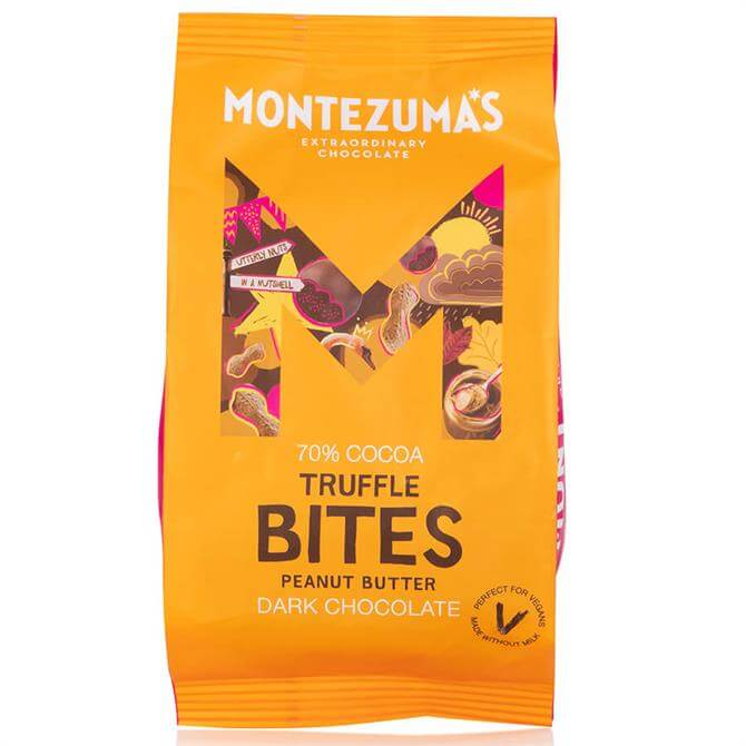 Montezumas Dark Peanut Butter Truffle Bites 120G