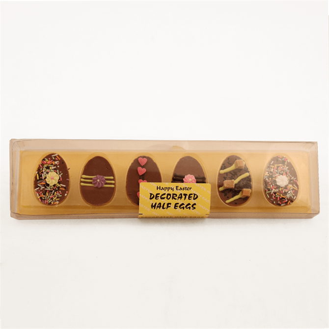 Happy Easter X6 Decorated Half Eggs 72g