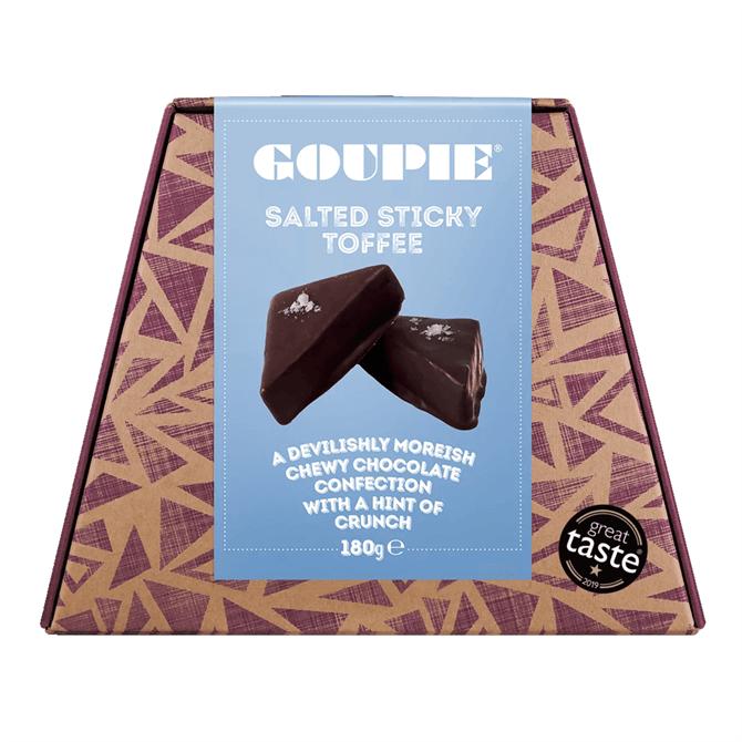Goupie Dark Chocolate - Salted Sticky Toffee