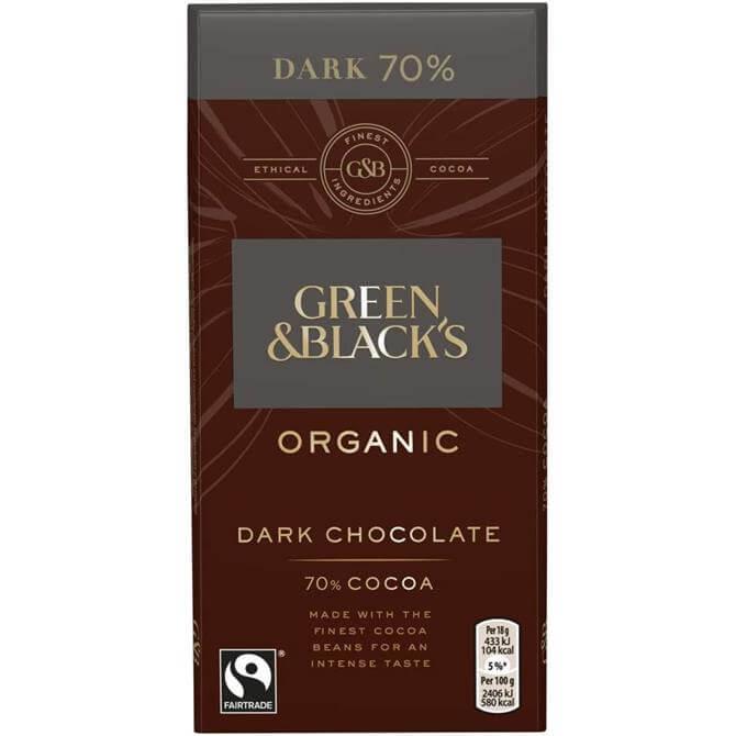 GREEN AND BLACKS DARK CHOCOLATE 70% 90G