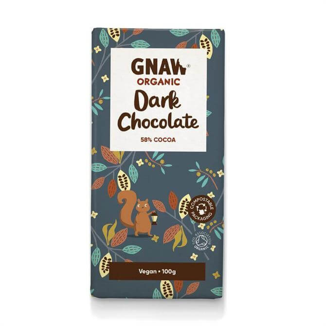 Gnaw Organic 58% Dark Chocolate Bar 100g