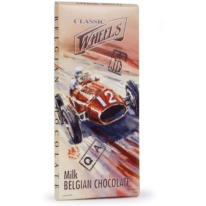 Classic Wheels Belgian Milk Chocolate Bar 100G