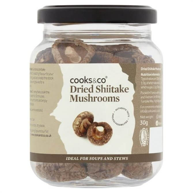 Cooks&Co Dried Shiitake Mushrooms 30G