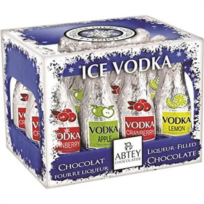 Mini Ice Vodka Chocolate Liqueurs Bottle Shaped In Crate 108G