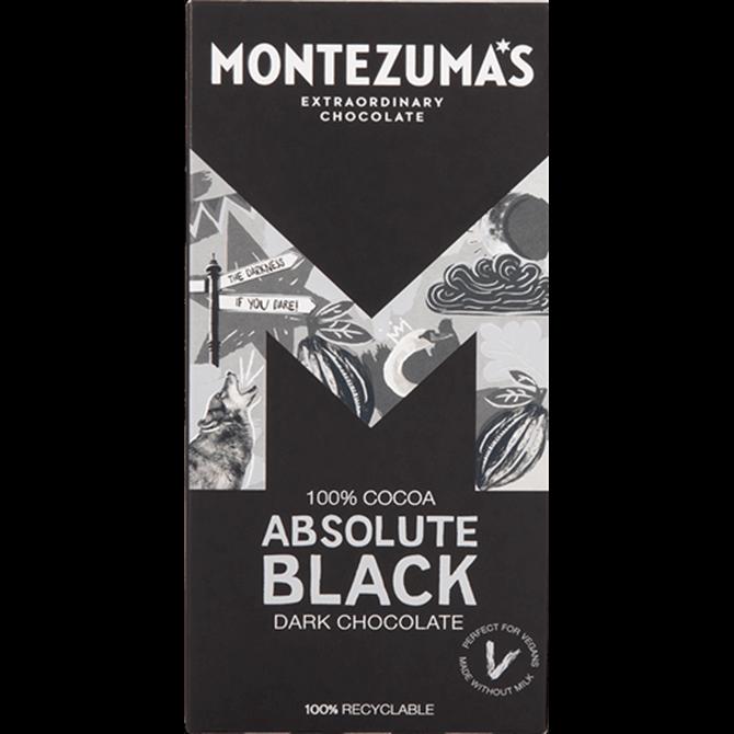 Montezuma's 100% Absolute Black Dark Chocolate 90g