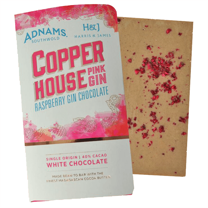 Adnams Copper House Pink Gin Chocolate Bar 86g