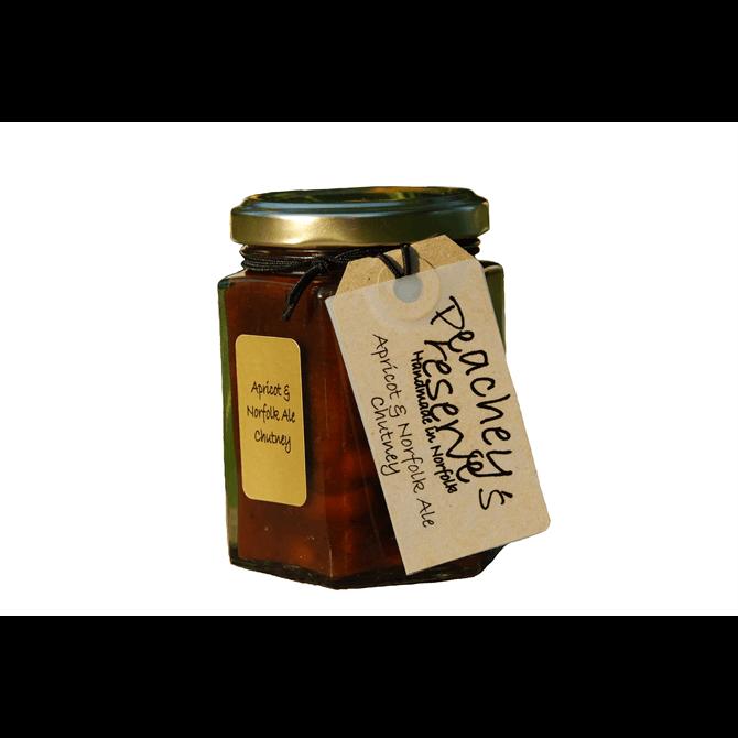 Peachey's Preserves Apricot & Norfolk Ale Chutney 195g