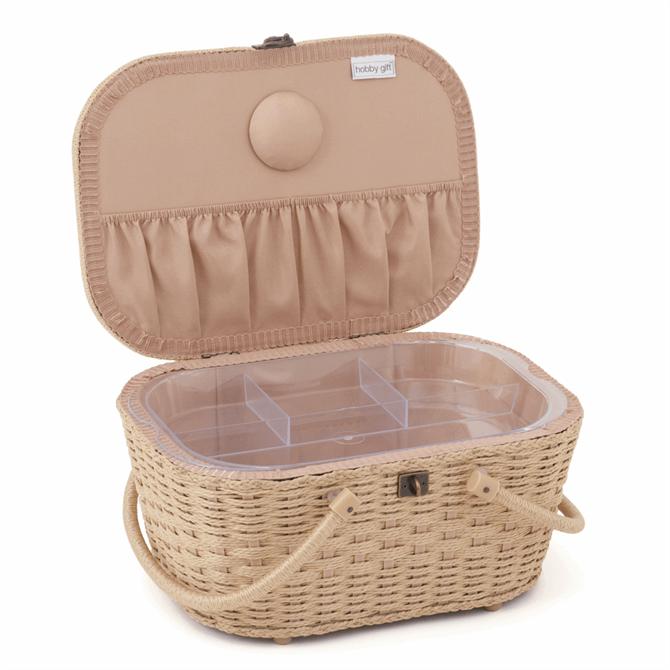 Hobby Gift Sewing Box Wicker Basket