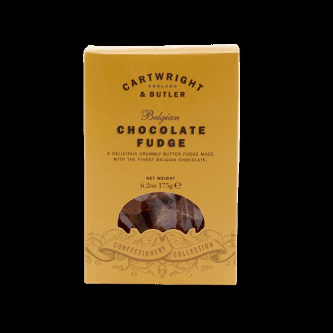 Cartwright & Butler Belgian Chocolate Fudge in Carton 175g