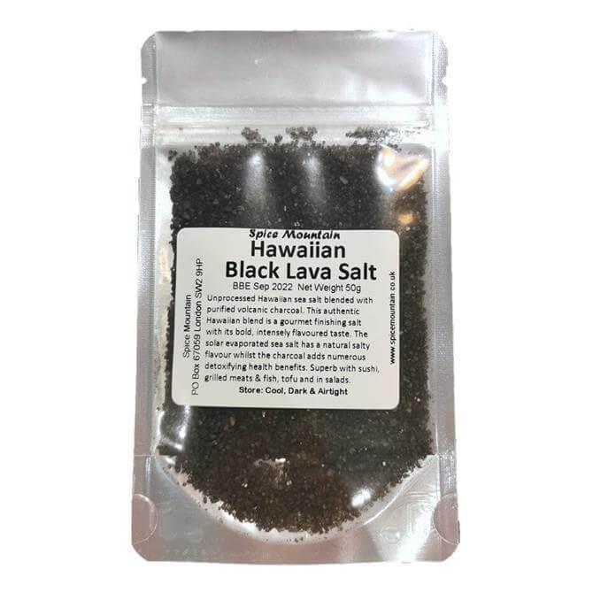 Spice Mountain Hawaiian Black Lava Salt 50g