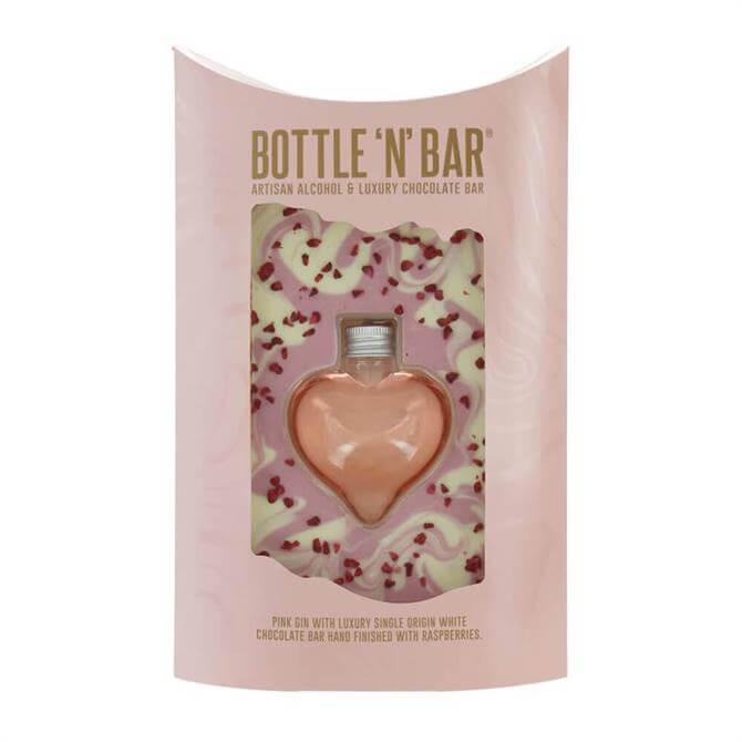Bottle N Bar Heart Pink Gin & Chocolate
