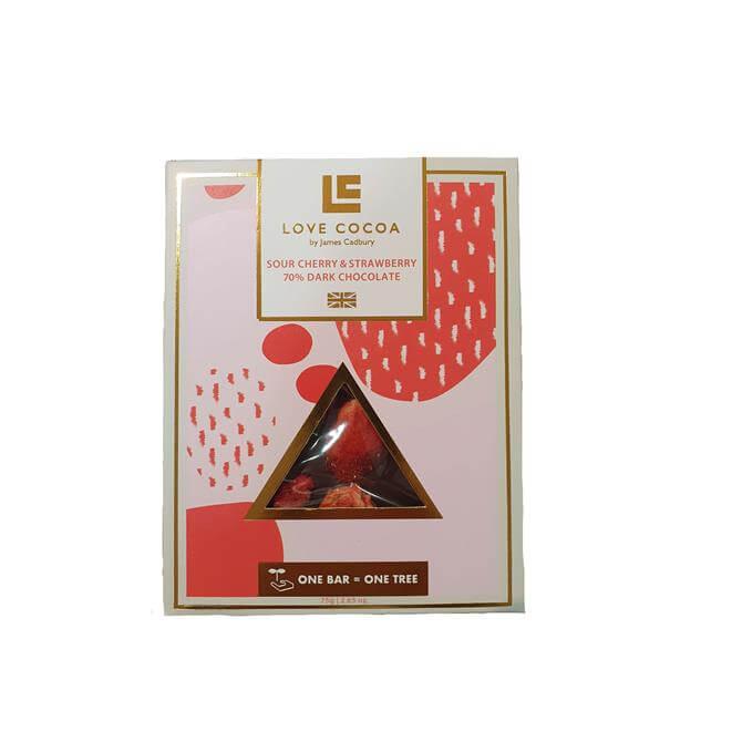 Love Cocoa Sour Cherry & Strawberry Dark Chocolate