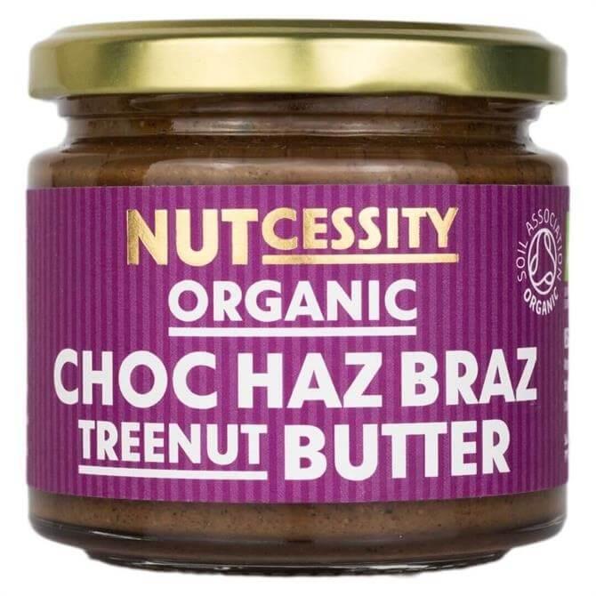 NUTcessity Organic Choc Haz Braz Treenut Butter 180G