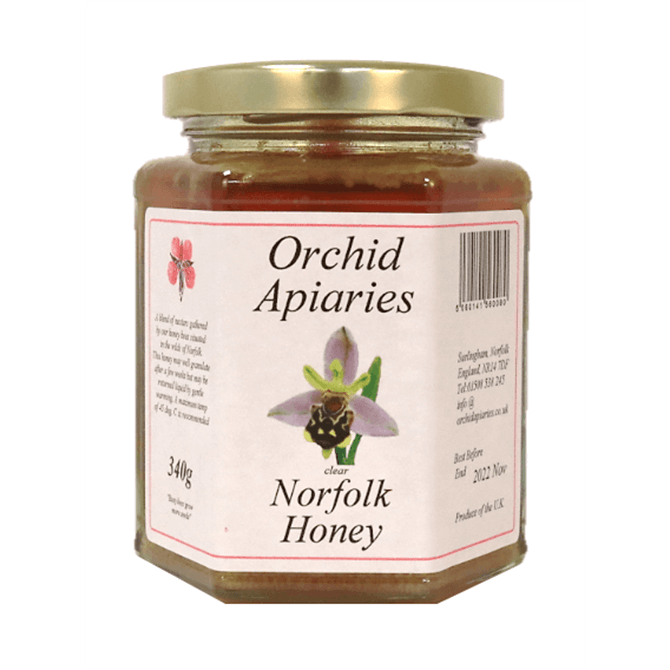 Orchid Apiaries Norfolk Clear Honey 340g