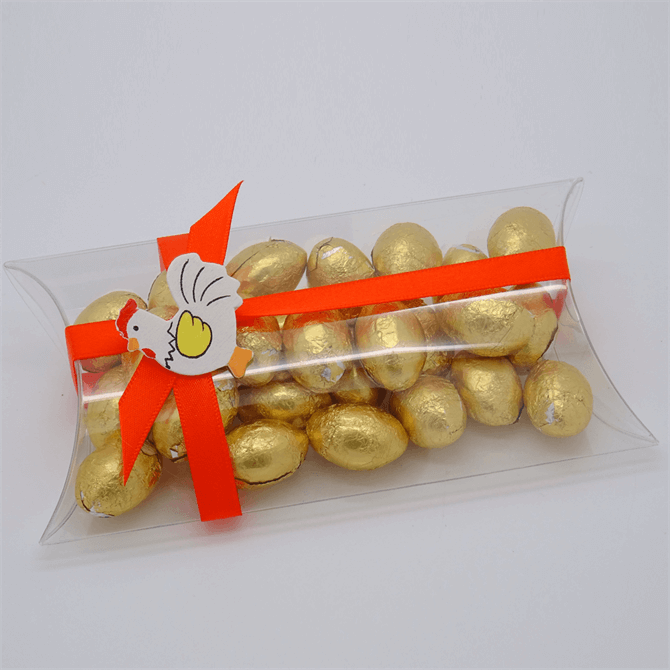 House of Flavours Large Pillow with Milk Chocolate Eggs 125g