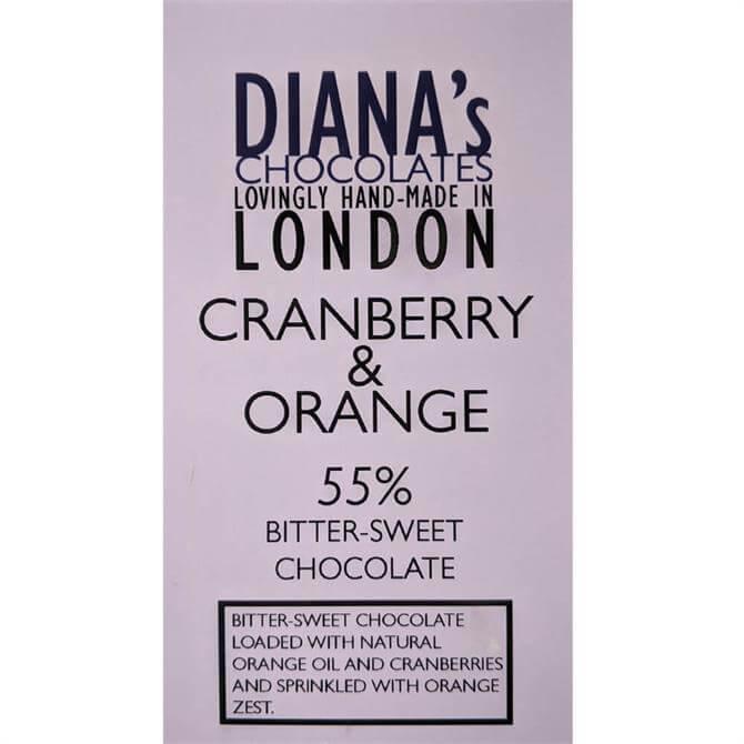 Diana's Chocolates Cranberry & Orange Dairy Free 100g