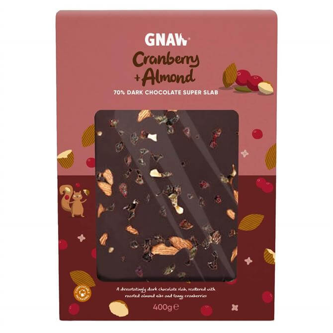 Cranberry & Almond 70% Dark Chocolate Super Slab